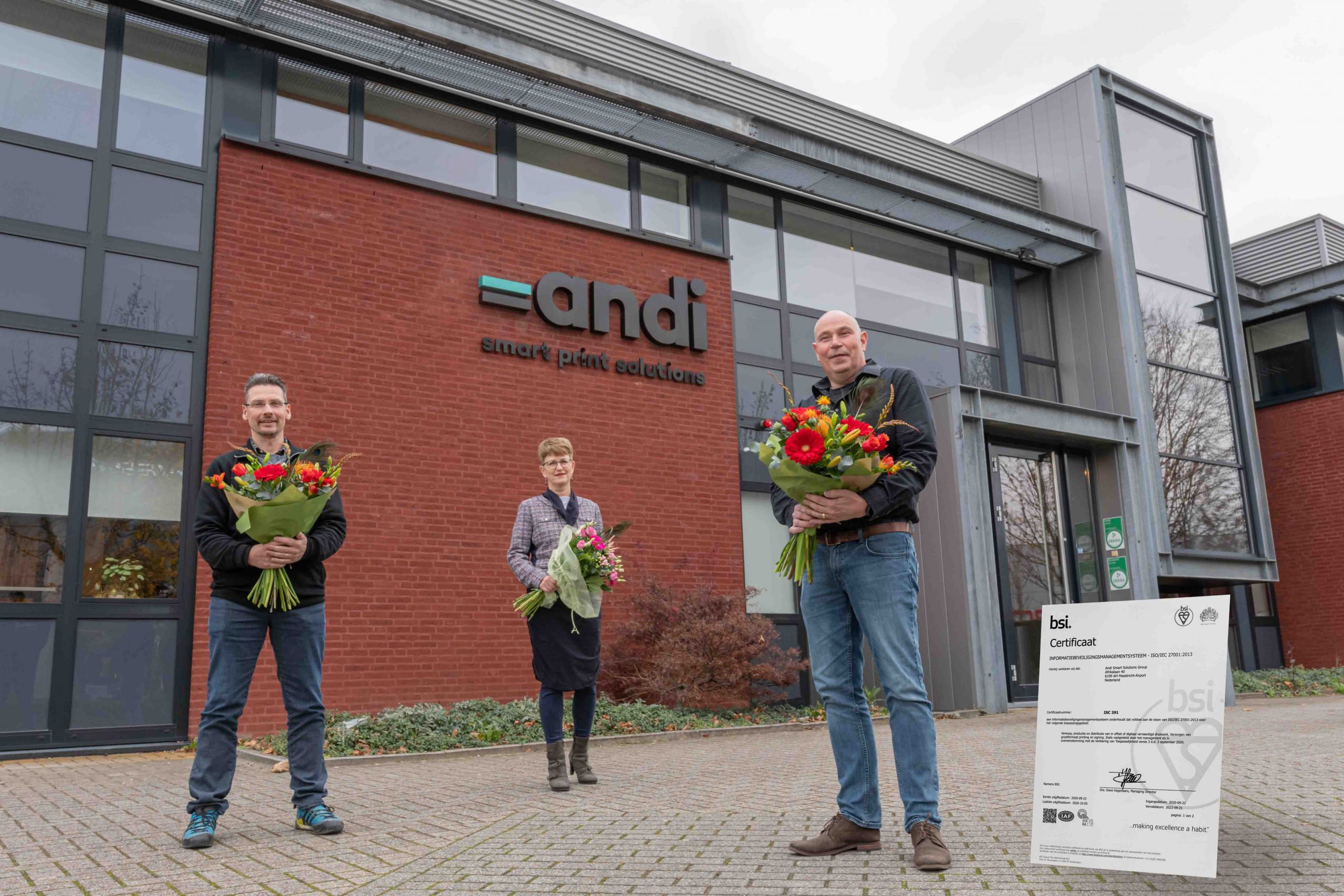 andi smart solutions group behaalt iso/iec 27001 certificaat voor informatiebeveiliging