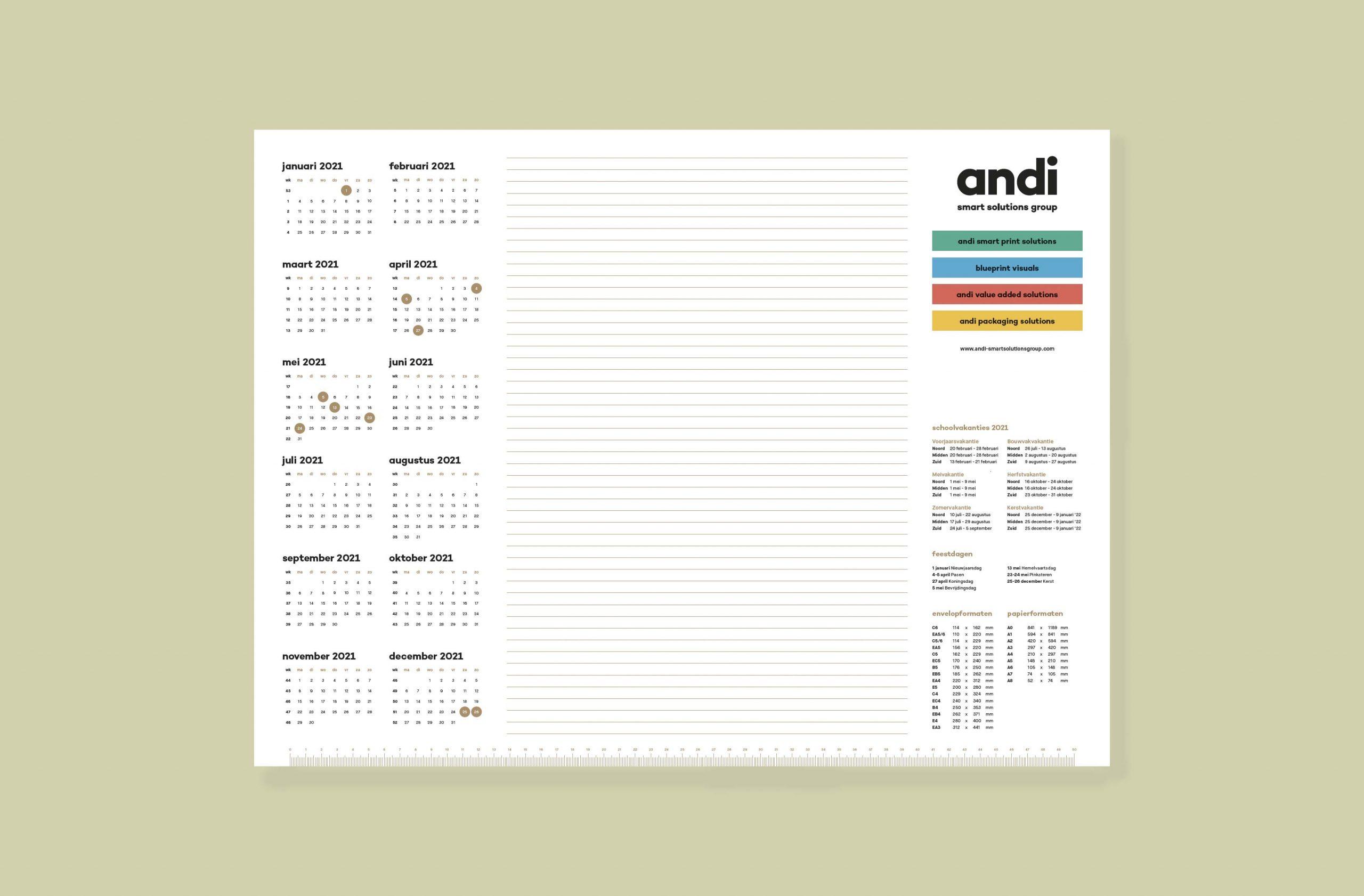 Andi bureaukalender 2020-2021